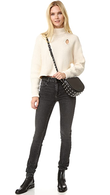 Alexander Wang Mock Neck Cropped Pullover
