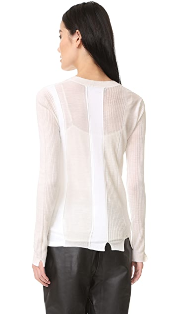 Alexander Wang Engineered Stripe Cardigan