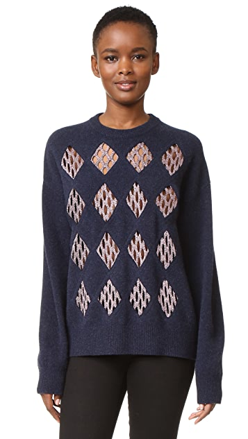 Alexander Wang Pullover with Fishnet Detail