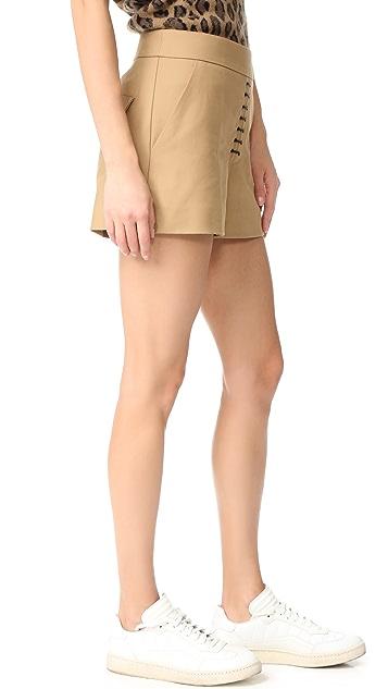 Alexander Wang Safari Shorts with Lacing