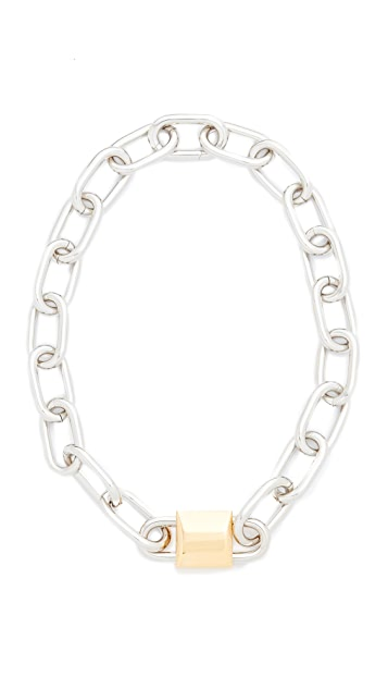 Alexander Wang Double Lock Necklace