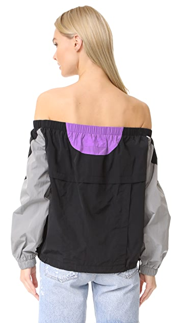 Alexander Wang Off Shoulder Top with Seaming