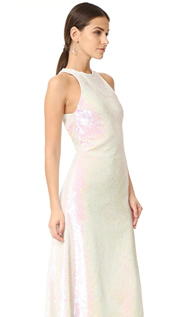 Alexander Wang Racer Front Sequin Dress