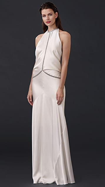 Alexander Wang Backless Gown with Fishbone Chain