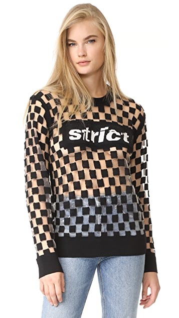 Alexander Wang Burnout Checkerboard Strict Pullover