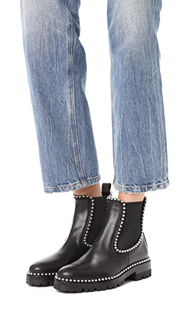 Alexander Wang Spencer Ball Chain Chelsea Boots