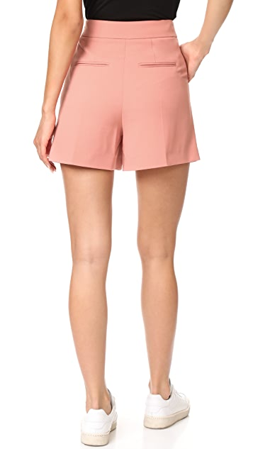 Alexander Wang Cropped Shorts with Fold Front Detail