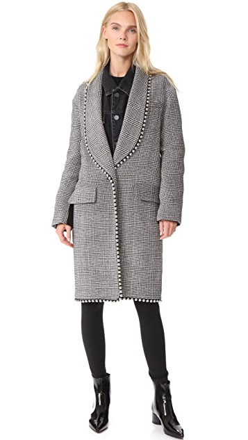 Alexander Wang Biker Sleeve Shawl Collar Coat