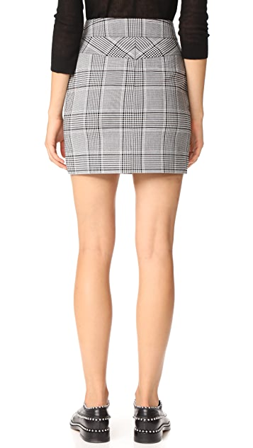 Alexander Wang High Waisted Miniskirt with Snap Detail