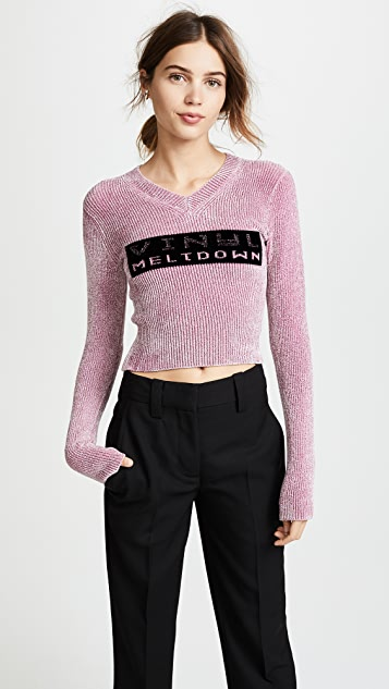 Alexander Wang Vinyl Meltdown Sweater