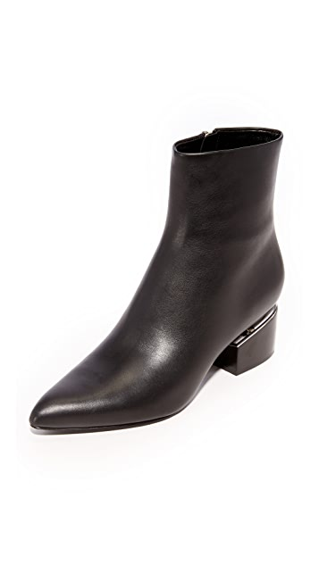 Alexander Wang Jude Low Heel Booties - Black