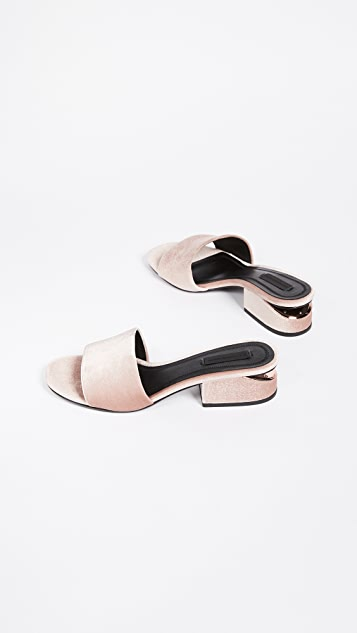 Alexander Wang Lou Low Heel Sandals