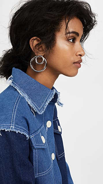 Alexander Wang Large Double O Ring Earrings