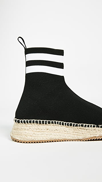 Alexander Wang Dylan High Knit Espadrille Runners
