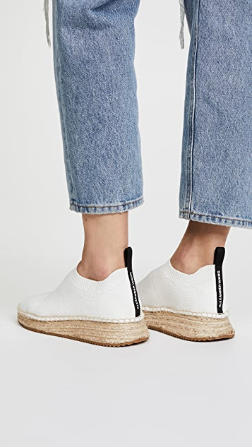 Sale Pre Order Online Store Alexander Wang Dylan low knit espadrilles Manchester Great Sale Sale Online Cheap Price Outlet Sale sDb3THrD