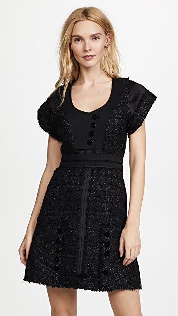 Alexander Wang Deconstructed Tweed Dress - Black