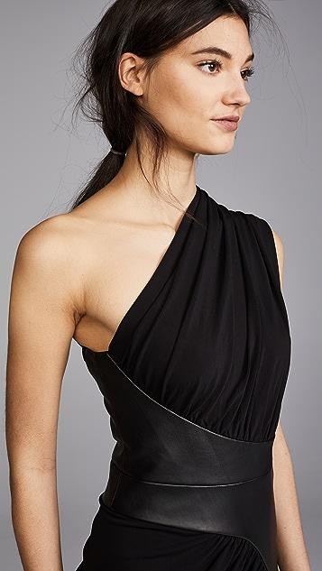 Alexander Wang Asymmetrical Draped Dress