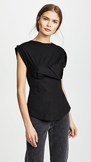 Alexander Wang Trompe L'oeil Shirt with Twisted Cups