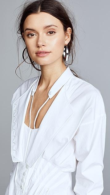Alexander Wang Deconstructed Poplin Shirtdress