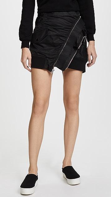Alexander Wang Deconstructed Bomber Miniskirt