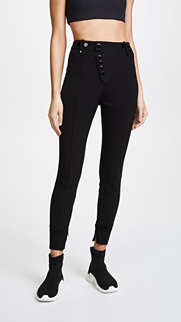 Alexander Wang High Waisted Leggings with Ribbed Cuffs