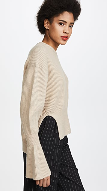 Alexander Wang Engineered Pullover with Side Slits - Champagne