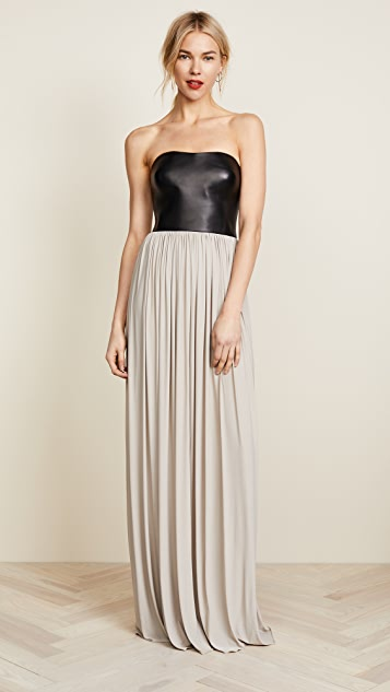 4dcde038e Alexander Wang Molded Leather Bustier Gown
