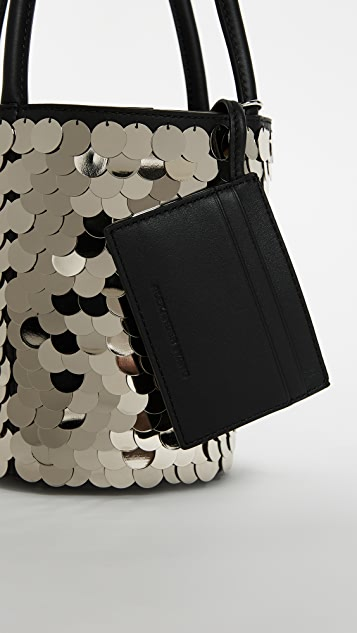 Alexander Wang Roxy Mini Bucket Bag with Shiny Paillettes