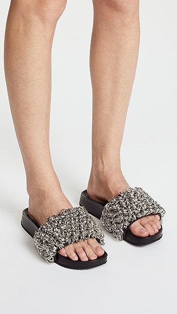 Alexander Wang Suki Ring Slide Sandals