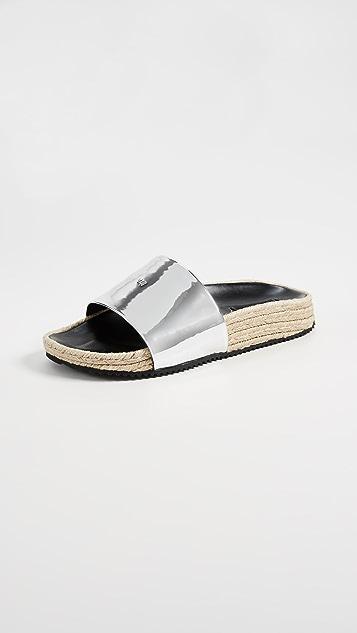 Alexander Wang Suki Espadrille Slides - Silver
