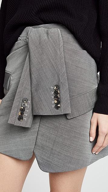 Alexander Wang Tie Front Skirt