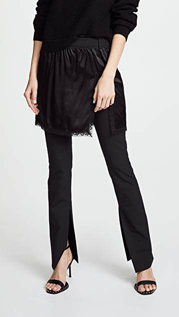 Hybrid Pants With Lace Border