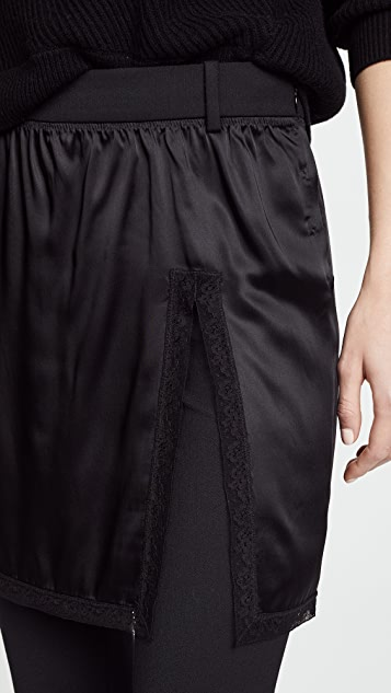 Alexander Wang Hybrid Pants with Lace Border