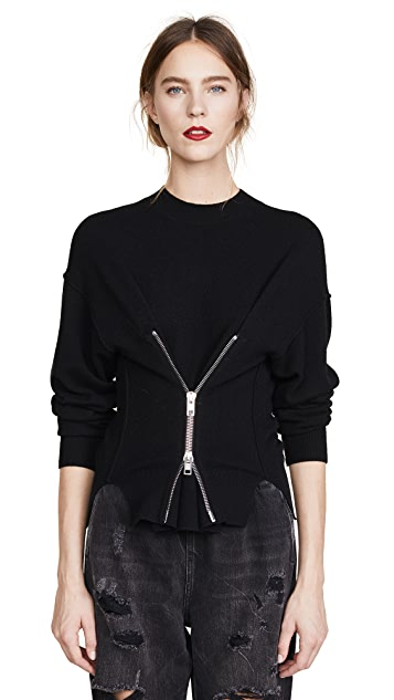 Alexander Wang Pullover with Cinched Zipper