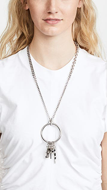Alexander Wang O Ring Trinket Necklace