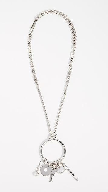 Alexander Wang O Ring Trinket Necklace