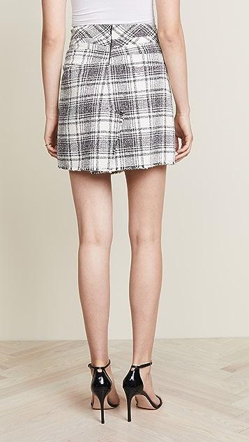 Alexander Wang Deconstructed Tie Front Skirt