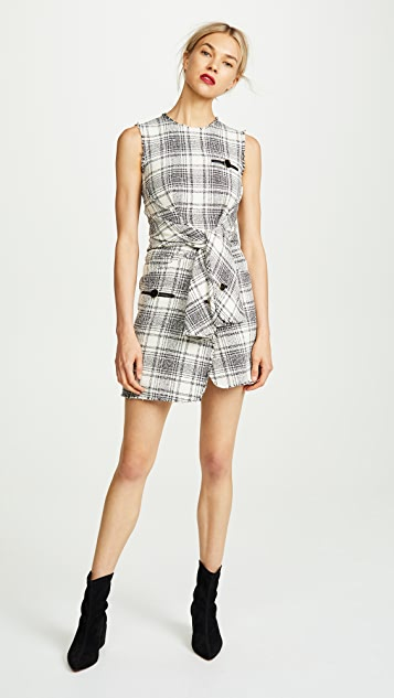 Alexander Wang Deconstructed Tie Front Dress