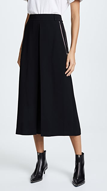 Alexander Wang High Waist Trousers With Zipper Detail