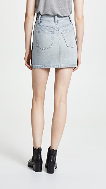 Alexander Wang Hybrid Leather/Denim Skirt