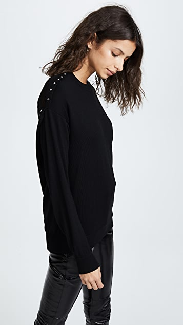 Alexander Wang Pullover Sweater with Sheer Back
