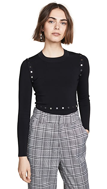Alexander Wang Crew Neck Sweater With Splittable Waist
