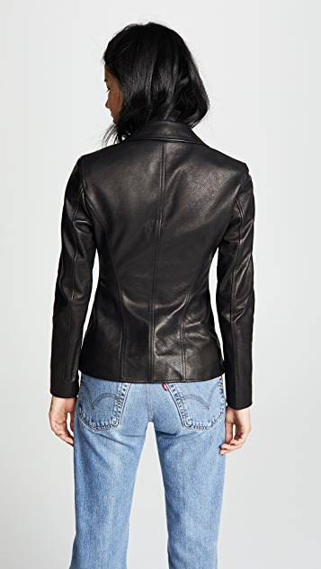 Alexander Wang Fitted Moto Blazer with Zip Detail
