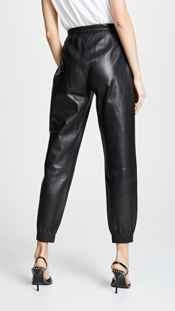 Alexander Wang Leather Sweatpants
