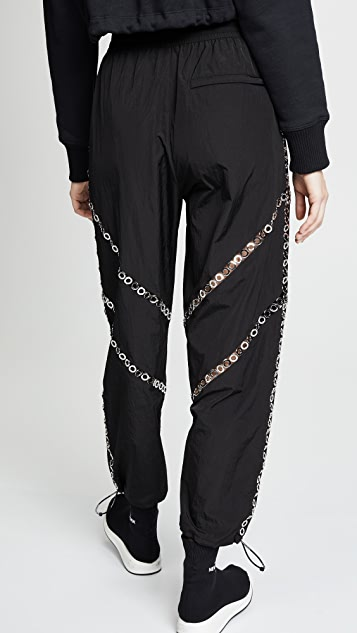 Alexander Wang Track Pants with Floating Grommet Detail