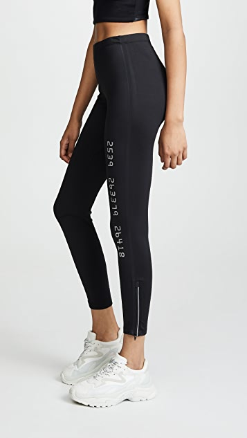 Alexander Wang Scuba Leggings with Reflective Graphics