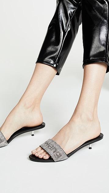 Alexander Wang Jo Kitten Heel Logo Sandals