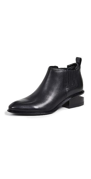 Alexander Wang Kori Ankle Booties - Black/Silver