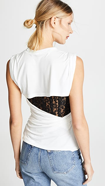 Alexander Wang T-Shirt with Lace Bustier