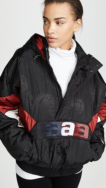 Alexander Wang 1/2 Zip Windbreaker Jacket With Embroidery